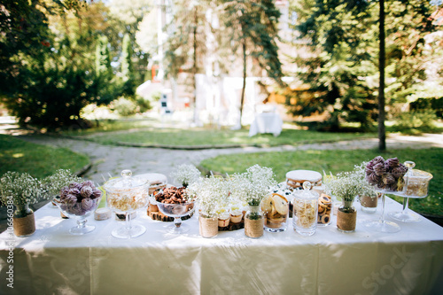 Delicious Wedding Reception Candy Bar Dessert Table For A Wedding