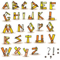 alphabet english abc for your design polygon vector