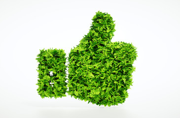 Eco friendly thumbs up Wall mural