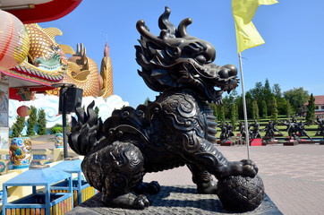 Dragon-headed unicorn called qilin or kylin Statue