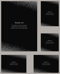 Black page corner design template set