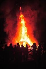 People in San Xoan Grove Fire Festival