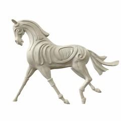 Sculpture of horse gait. 3d illustration