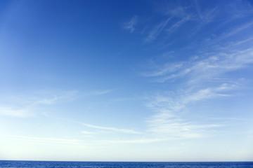 Foto op Plexiglas Hemel Summer landscape with sky and sea