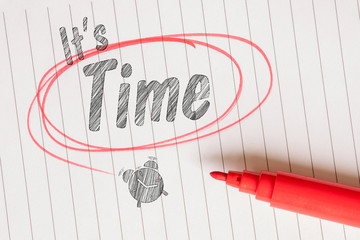 It's time note on linear paper