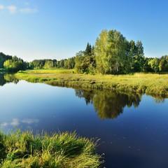 Printed kitchen splashbacks River Brasla river in Gauja national park, Latvia