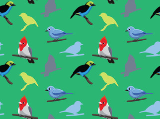 Bird Cardinal Tanager Wallpaper 2