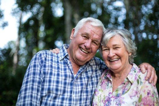 Portrait of happy senior man and woman