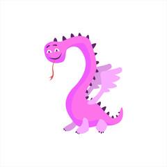 Pink Dragon Childish Monster
