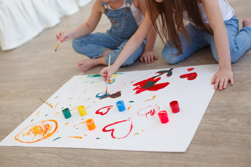 bright children's drawing paints