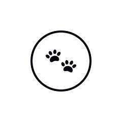 Icon paw tracks.