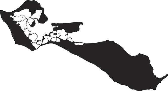 Ile de Ré, logo, silhouette