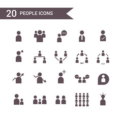 people icon set vector. Silhouette icons.