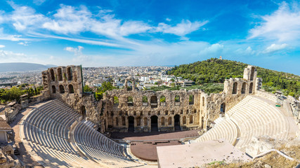 Foto op Textielframe Athene Ancient theater in Greece, Athnes