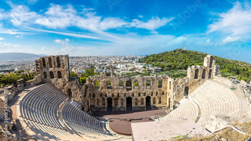 Fototapete Ancient theater in Greece, Athnes
