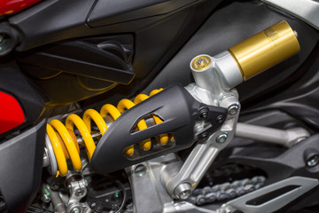 Motorcycle shock absorbers a device for absorbing jolts and vibr