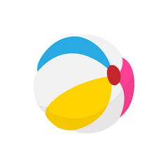 Colorful ball icon, cartoon  style