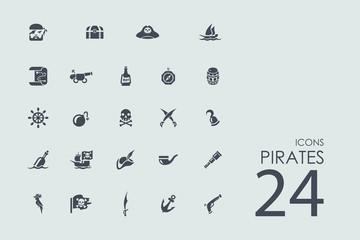 Set of pirates icons