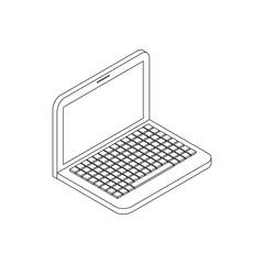 Laptop icon, isometric 3d style