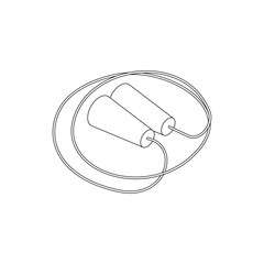 Skipping rope icon, isometric 3d style