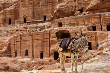 Les tombeaux étagés à Pétra – Jordanie