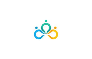 circle human team logo