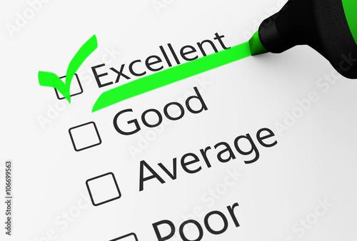 771c17973f5 Excellent Quality Customer Service Survey