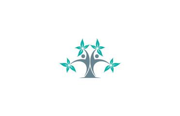 tree human icon logo