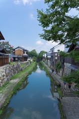 Hachiman-bori canal in Omihachiman.