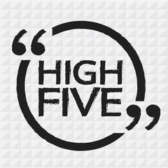 HIGH FIVE Illustration design