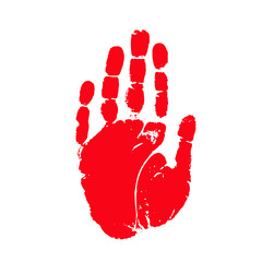 Hands print icon with boy hand stamp