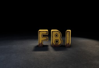 FBI, 3D Typography