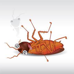 illustration of cartoon cockroach
