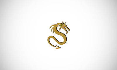 letter S abstract dragon logo