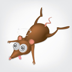 Illustration of cartoon rat.