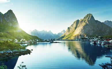 Reine Village, Lofoten Islands, Norway Wall mural
