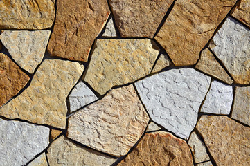 Stone Natural Fieldstone wall closeup texture patterns