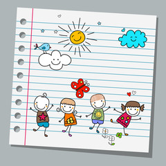 notebook paper summer