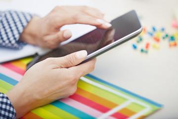 Digital tablet at office