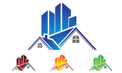 real estate, building, house, property, home logo design - Buy this ...