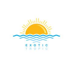 sea wave sunset symbolic