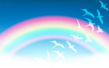 Vector Rainbow Illustration