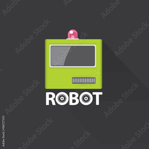 quotgreen robot head logo designquot immagini e vettoriali