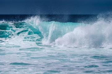 Turquoise ocean waves