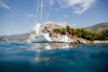 couple yacht honeymoon sailing luxury cruise