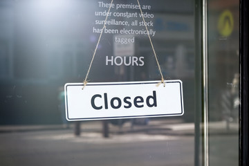 closed sign shop door