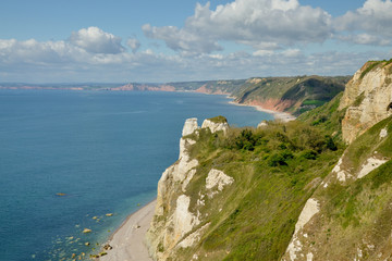 Hooken cliffs with Hooken beach underneath