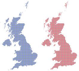 UK Dot Maps Red/Blue