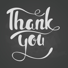 Thank you lettering. Hand written Thank you poster.Lettering On