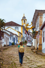 streets of the historical town Tiradentes, Brazil